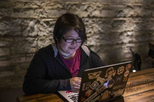 Vicky at work (photo: courtesy of Dogpatch Labs)