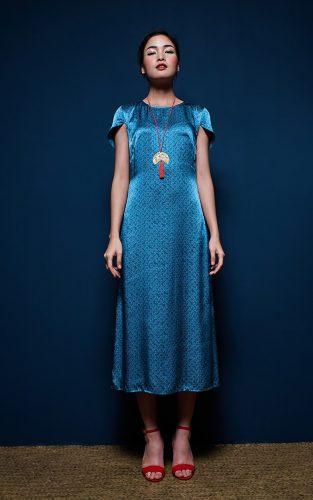 Metiseko Longan - Indigo Hills Dress