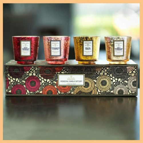 Voluspa Pedestal Candle Gift Set
