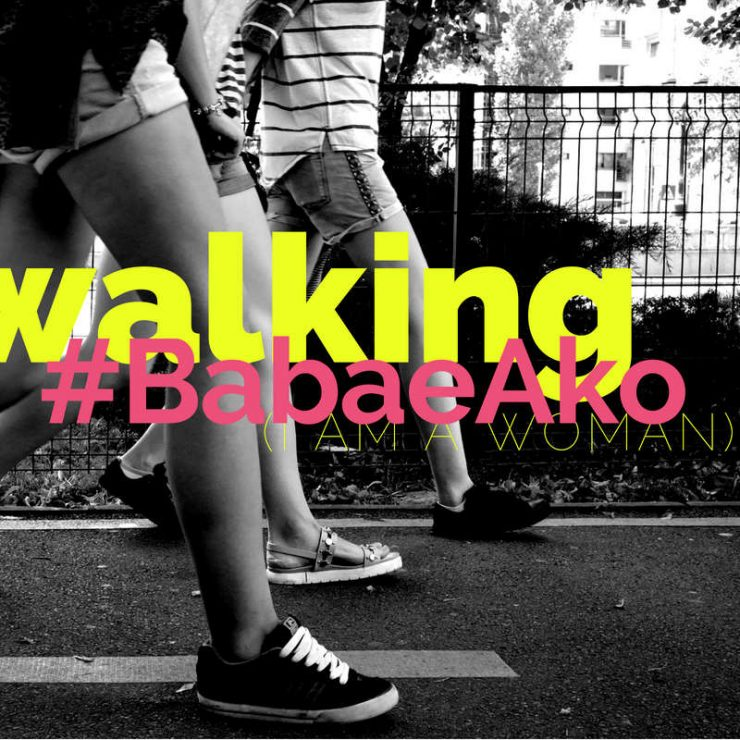 Women march #babaeako - I am a woman