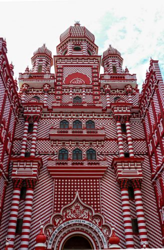 The Red Mosque en face by Nathan Mahendra
