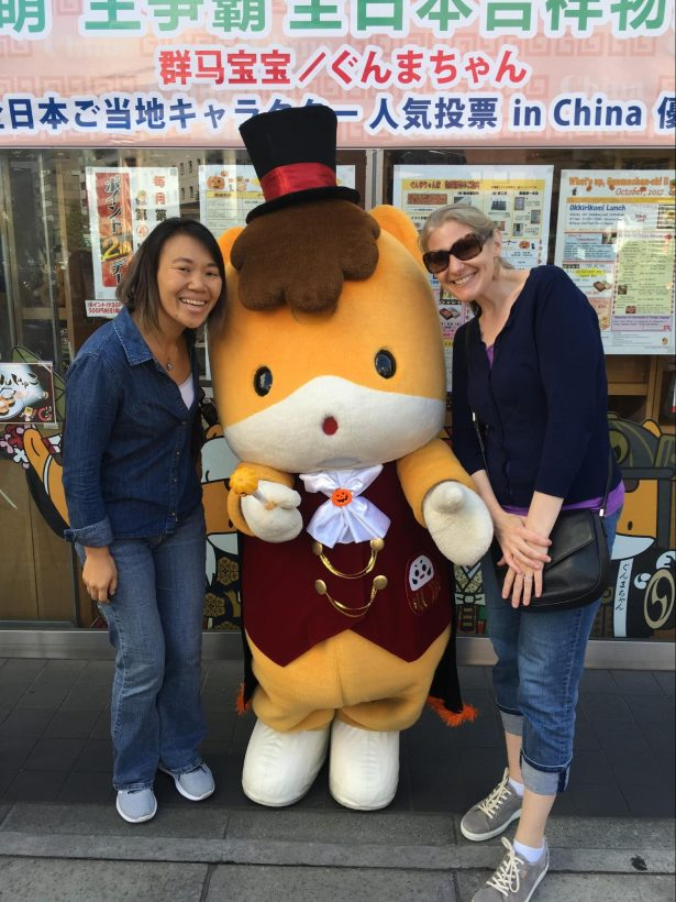 Tara and her BFF in Japan