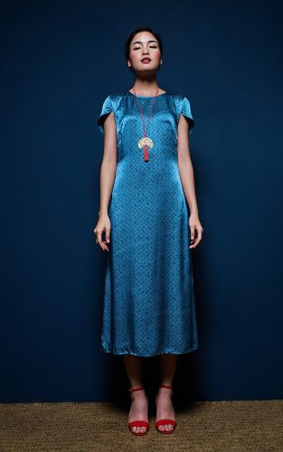 Metiseko Longan - Indigo Hills Dress