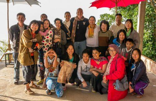 Ban Yot Doi Wattana school with the Thainitiative volunteers.