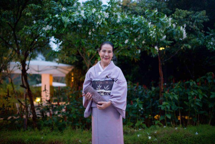 Tsuruko Hanzawa performs chaji in Singapore
