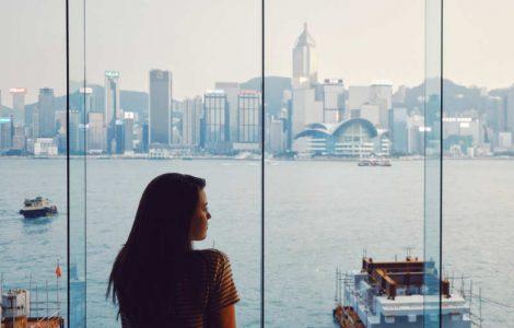 Having a look at people in Hong Kong.